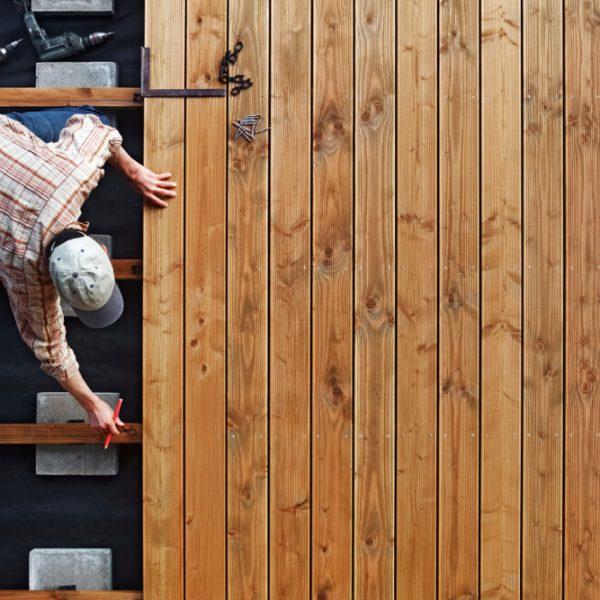 drevený obklad na terasu montáž Profi montáže